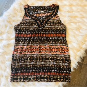 Cato Beaded Tank Top Sz L